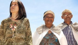 Cochoqua clan chief Tania Kleinhans-Cedras with Aborigine veterans Aisha Adams and Paul Fredericks have called for reclassification of their race and dismantling of reference structure groups. Picture: Tracey Adam. Credit: INDEPENDENT MEDIA